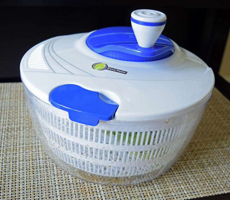 salad spinner by Cave Tools