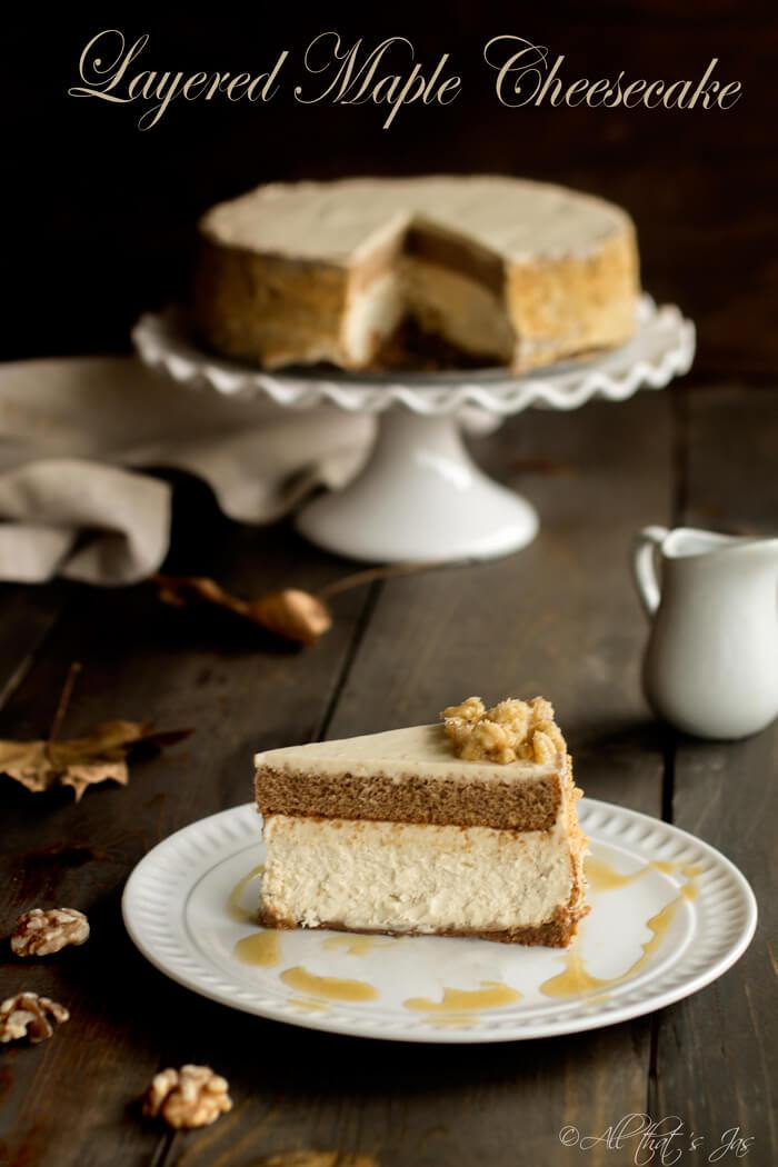 layered maple cheesecake by All That Jas