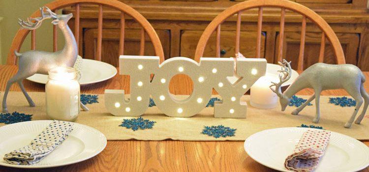 Silver & Reindeer Christmas Table