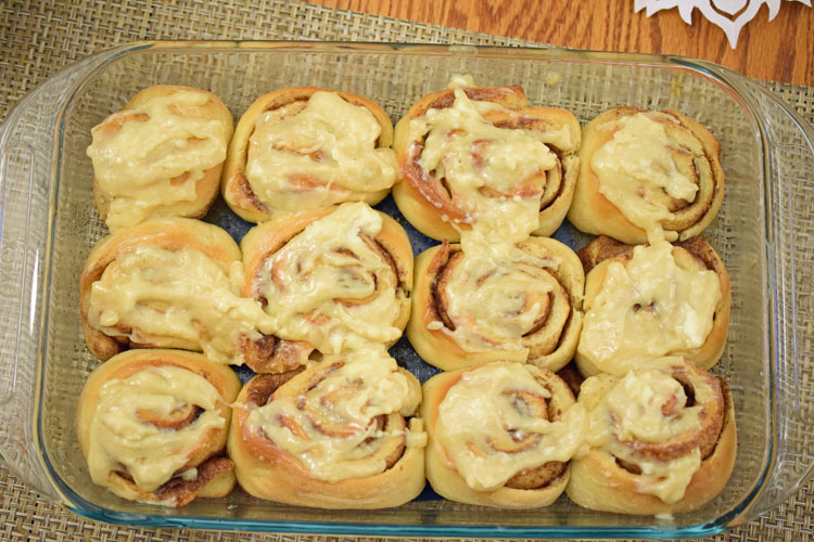 I love this recipe for homemade cinnamon rolls