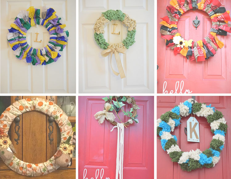 six months of easy to make wreaths. Visit Mom Home Guide for the tutorials!