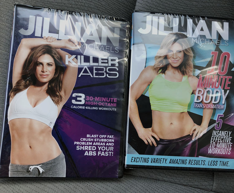 Jillian Michaels DVDs found at the dollar store