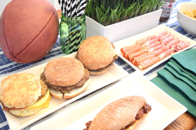 easy and delicious football game day food spread