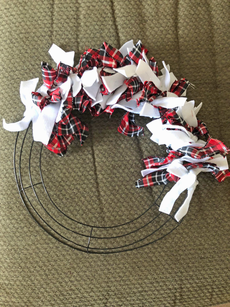 Scrappy Valentine S Day Wreath