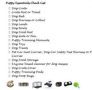 must haves shopping list for a new puppy
