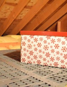 Attic Dek flooring makes it easy to install attic floors