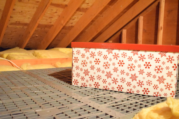 Attic Dek flooring makes it easy to install attic floors