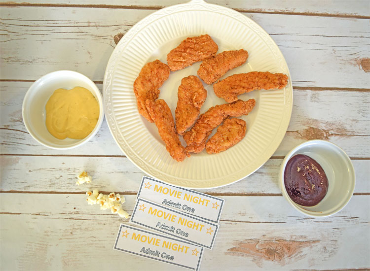 chicken tenders as a snack food for movie night