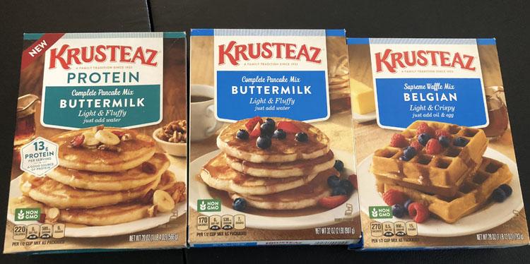 Krusteaz pancake and waffle mixes