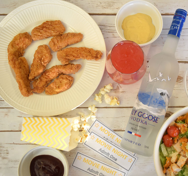 easy and delicious food from Wendy's for a fun girls' movie night party