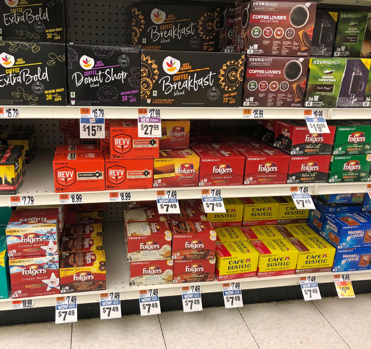 Folgers Coffee at Stop and Shop