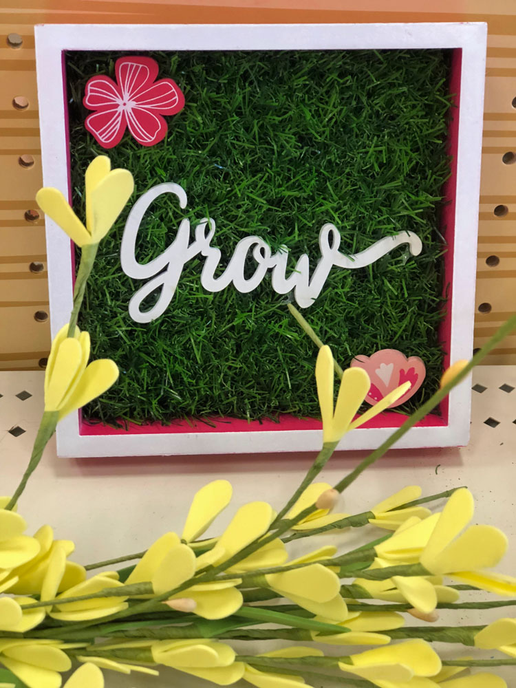 grow sign at Target