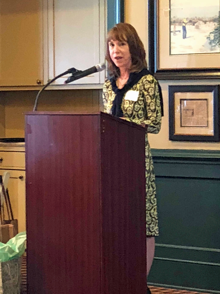 Lisa See at an April 2018 event hosted by The Princeton Public LIbrary