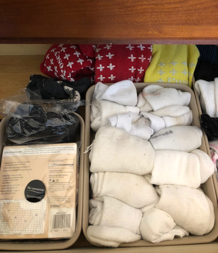 an organized sock drawer