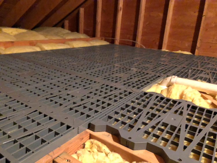 Attic Dek is an easy way to install flooring in an attic
