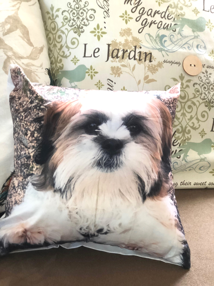 custom canvas photo pillow