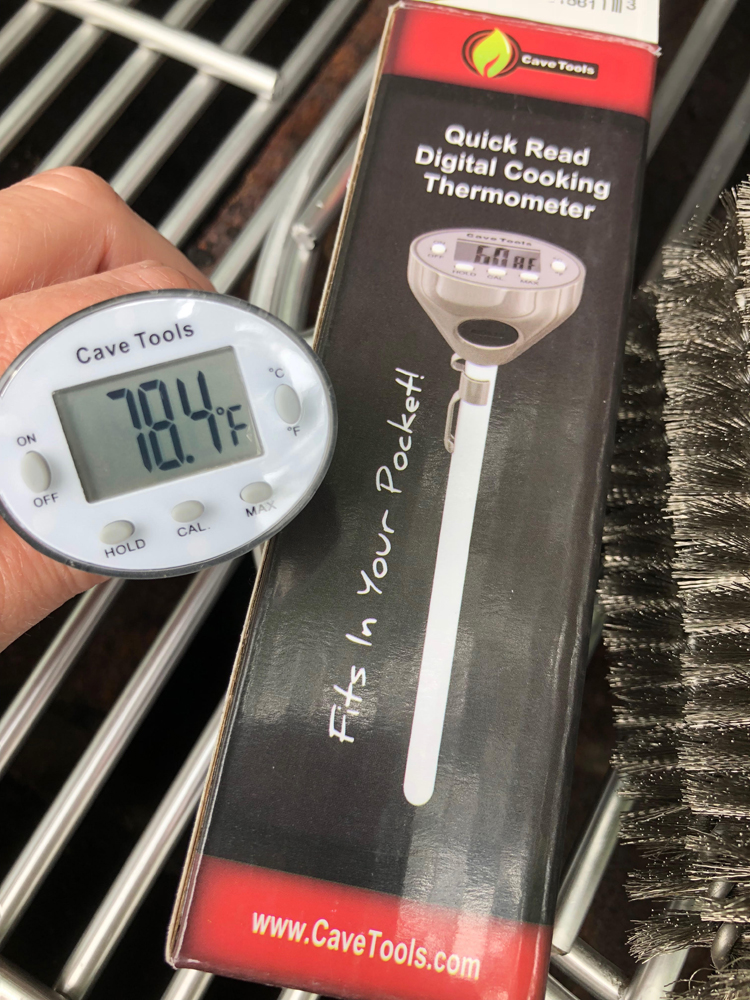 digital thermometer from Cave Tools