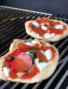 Personal Pizzas on the Grill Recipe — Taste Creations Blog Hop