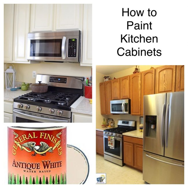 how to easily paint kitchen cabinets with milk paint