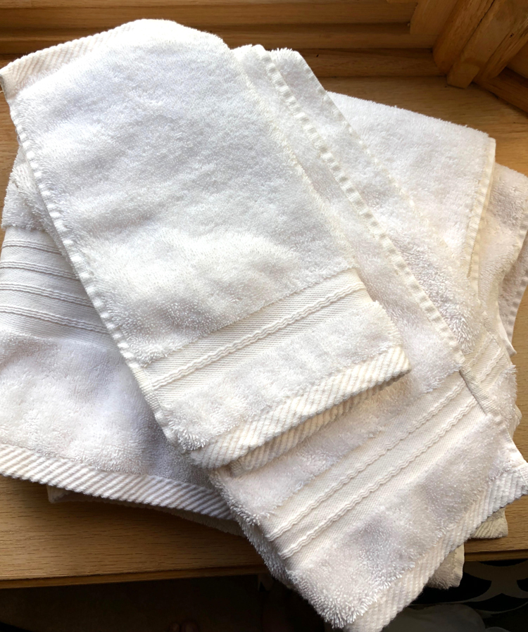 white turkish towels