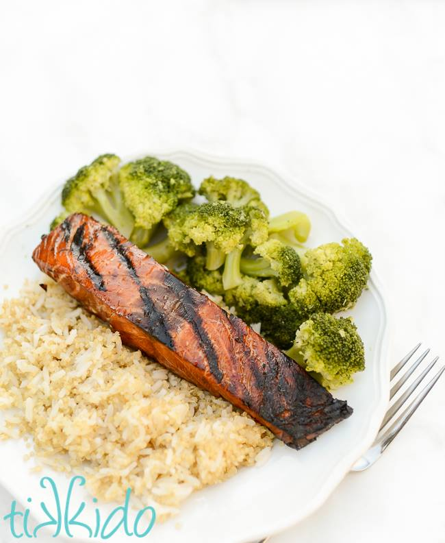 grilled salmon with a teriyaki glaze recipe