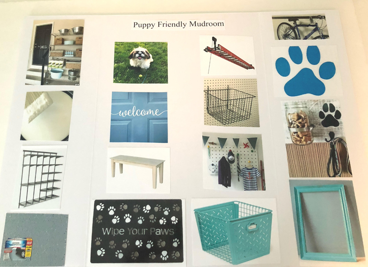 ideas for transforming a garage into a puppy and dog friendly mud room space
