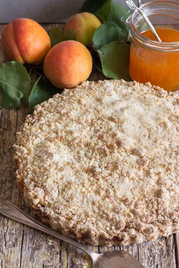 apricot jam crumb pie