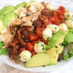Grilled Chicken Avocado & Bacon Caprese Salad