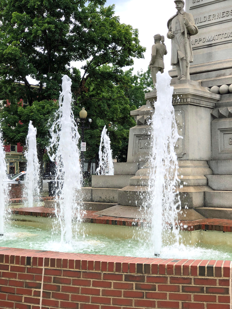 fountain in Easton, PA