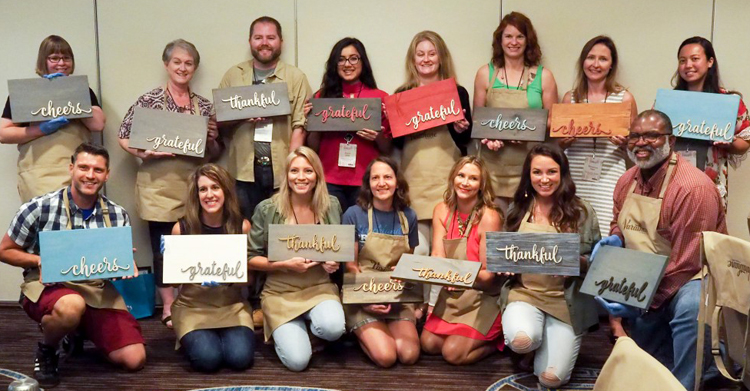 rustoleum make and take class at the Haven 2018 design and DIY blogging conference