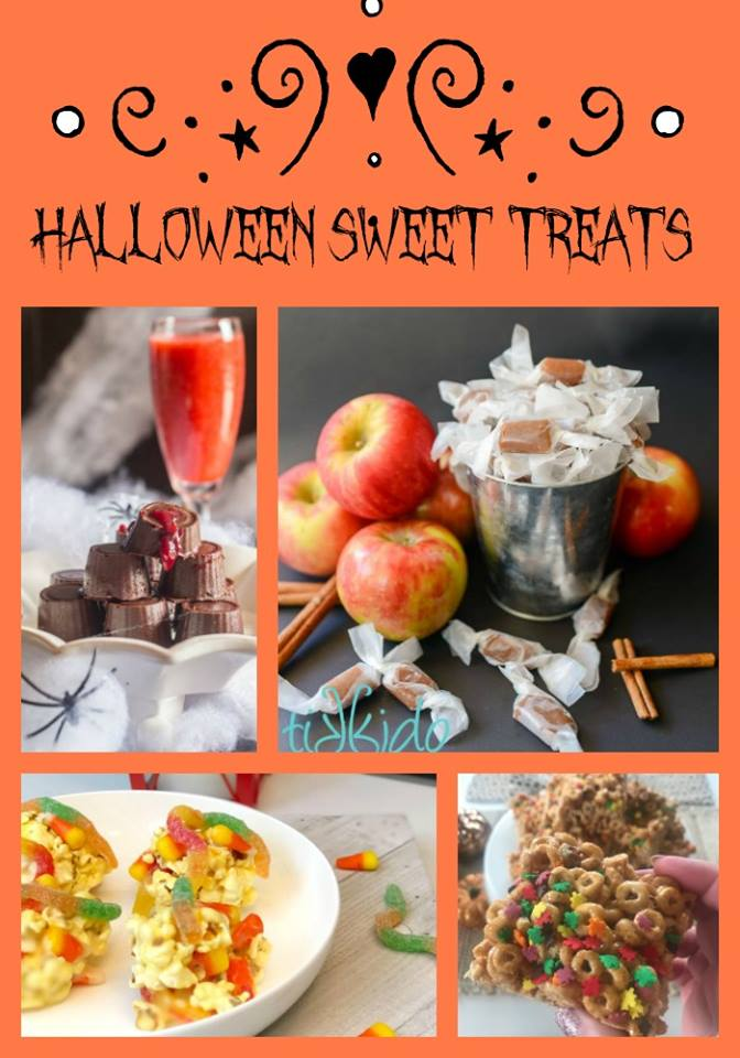 recipes for Halloween sweet treats - popcorn balls, chocolates and pumpkin spice cheerios