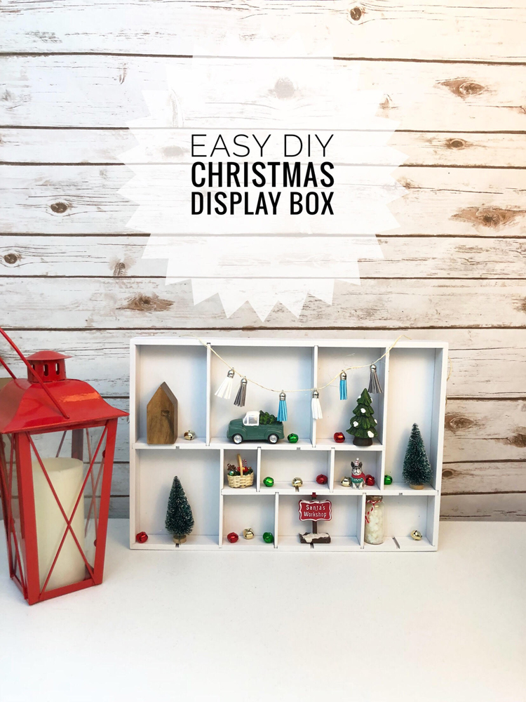 I love this easy and inexpensive DIY Christmas display box