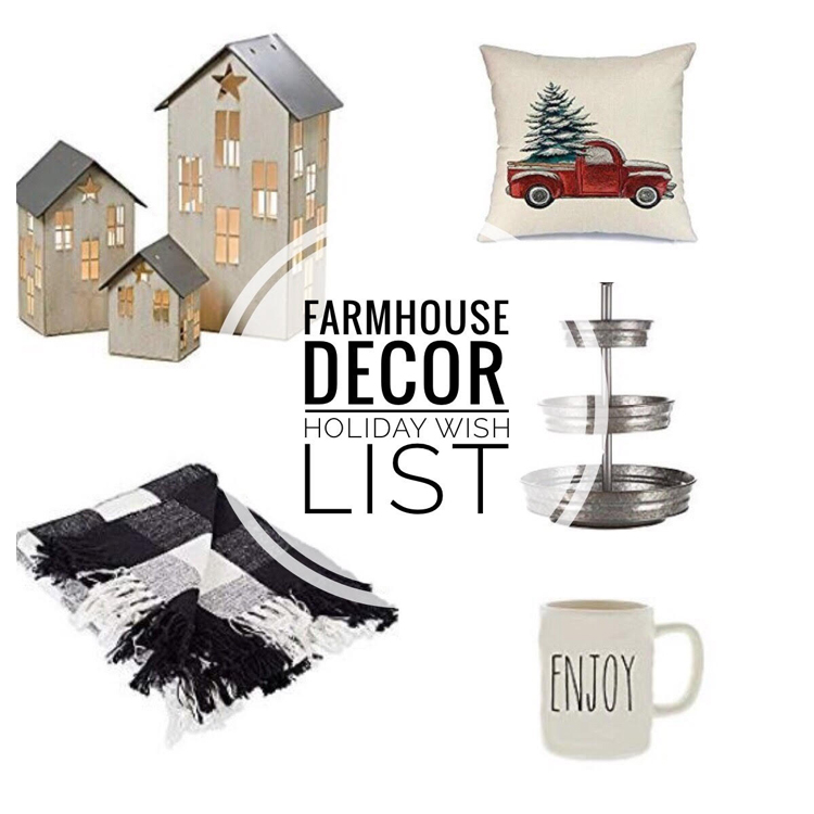 farmhouse decor holiday wish list