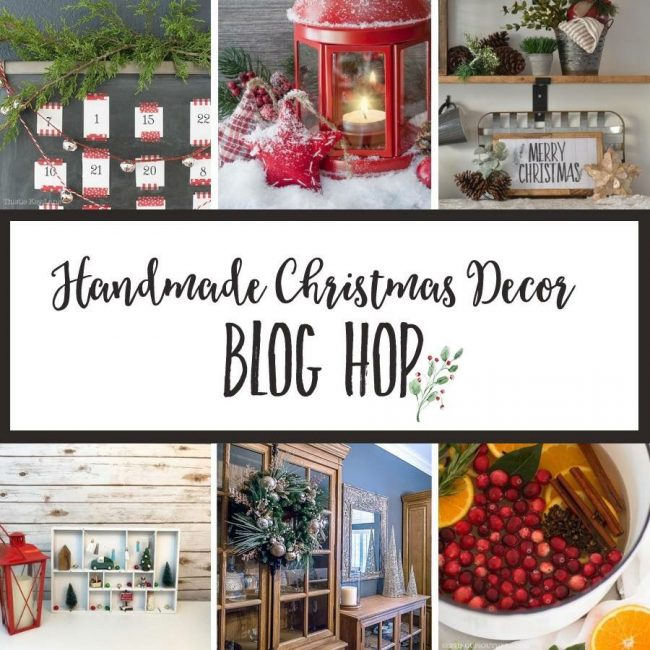 Stop by the Handmade Christmas Decor Blog Hop to see a variety of beautiful decor projects you can create this season for Christmas.