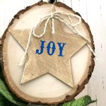 DIY Rustic Wood Slice Ornament Tutorial