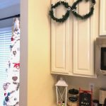 Kitchen Cabinet Wreaths {Dollar Store Craft Challenge | Christmas Edition)