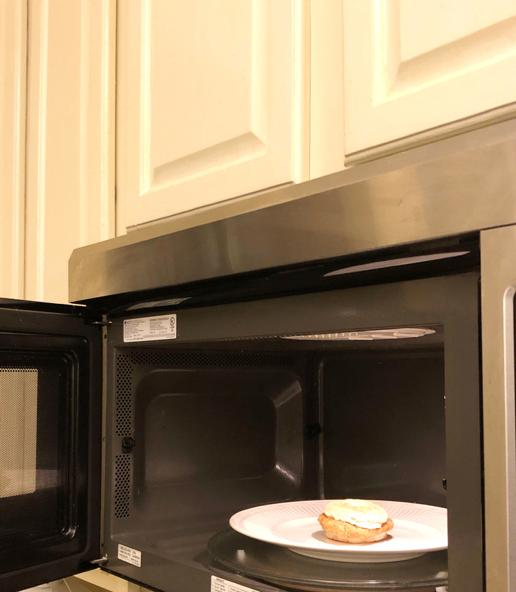 Smithfield breakfast sandwiches heat up quickly in the microwave