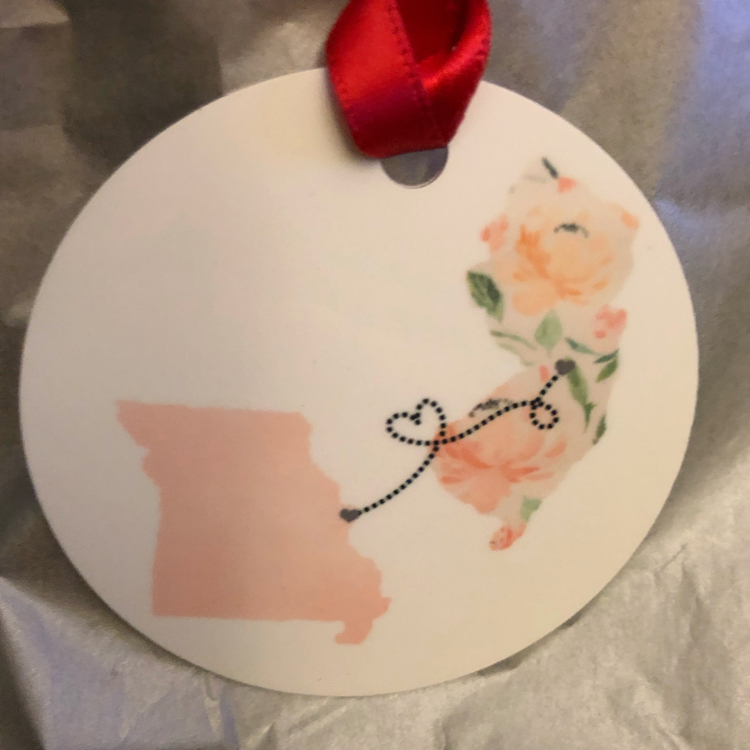 states friends forever apart ornament