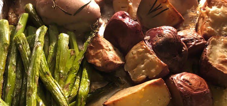 Rosemary Chicken, Asparagus & Potato Sheet Pan Dinner