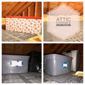how to organize an attic