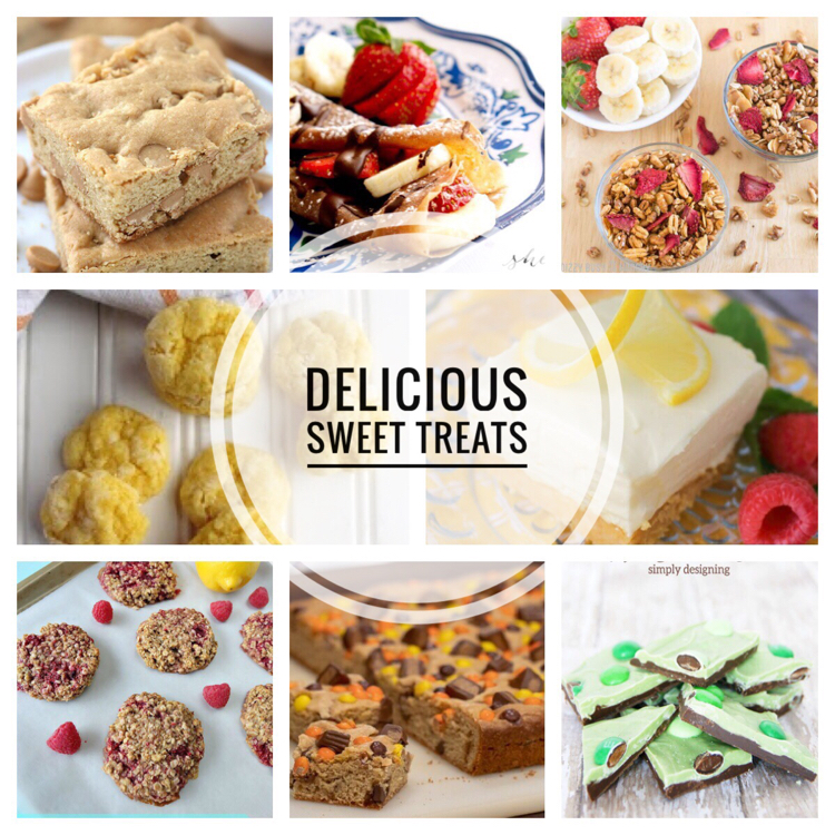 I love this collection of recipes for incredibly delicious sweet treats! Brownies, lemon cheesecake bars, lemon butter cookies, mint chocolate bark, chocolate crepes, lemon raspberry cookies, blondies, Mardi Gras King Cake and strawberry granola