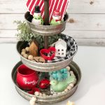 How to Style a Tiered Tray for Valentine's Day