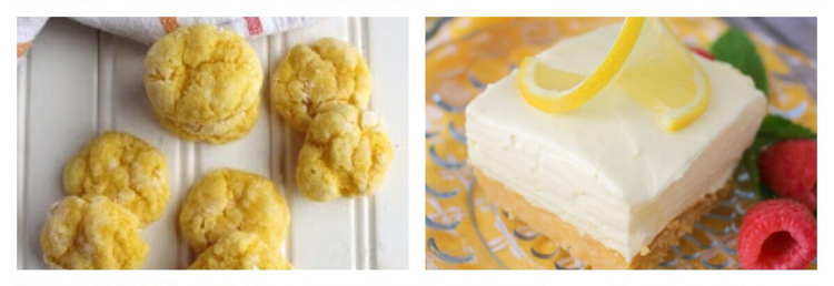 I love these lemon bar and lemon cookies recipes
