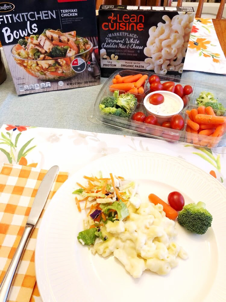 LEAN CUISINE® Vermont White Cheddar Mac & Cheese is delicious and contains organic ingredients