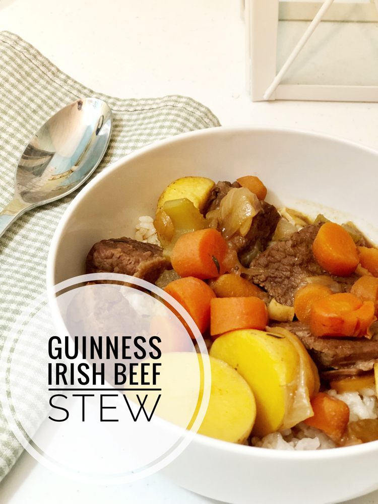 This Guinness Irish Beef Stew is easy to put together and is so delicious! The beer flavors and tenderizes the beef for a melt in your mouth beef stew. It can be made in a slow cooker or on the stove.