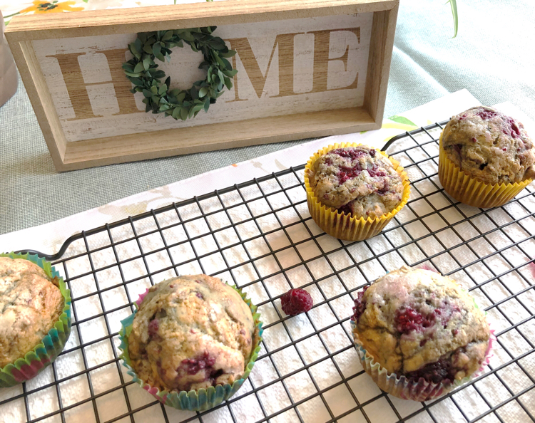 homemade raspberry muffins recipe