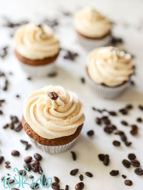 Irish coffee cupcakes with Baileys icing