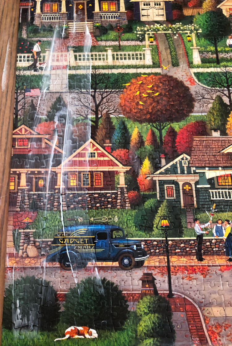 how to use Mod Podge to glue a puzzle together