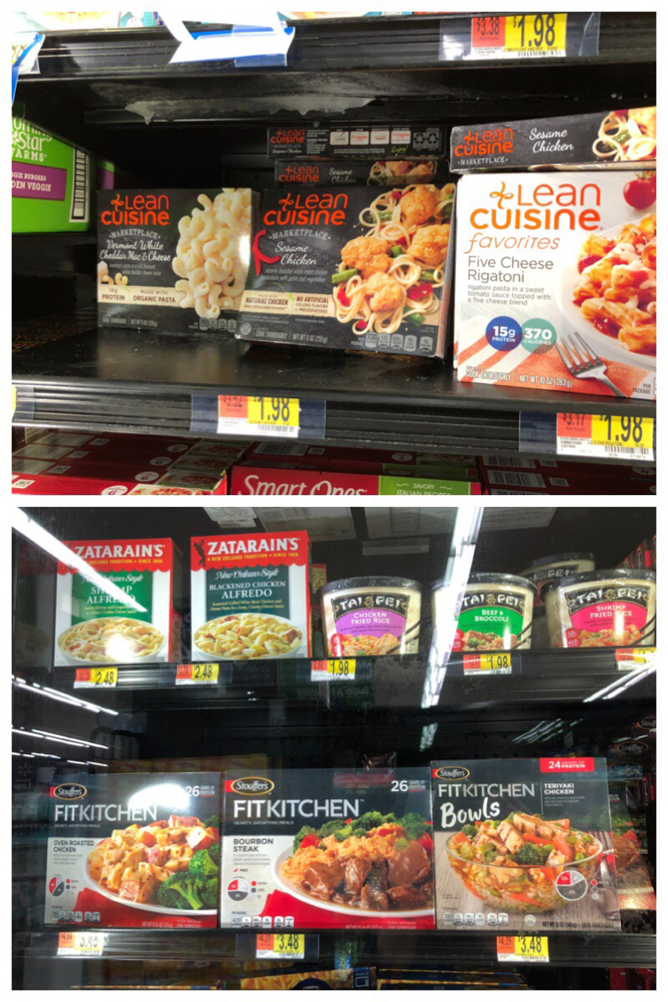 LEAN CUISINE® and STOUFFER'S® FIT KITCHEN® can be found easily in the frozen food section at Walmart