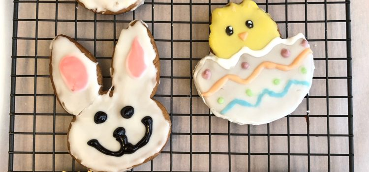 Lemon Gingerbread Easter Cookies
